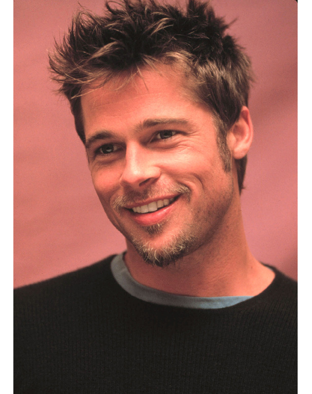 illustration coupe de cheveux brad pitt