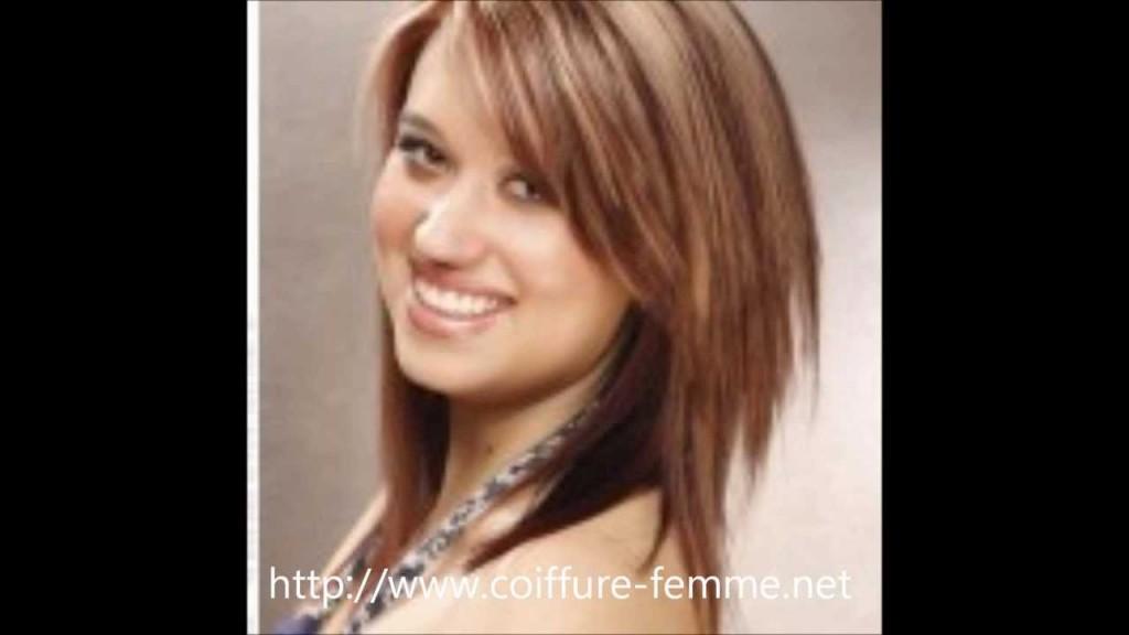 idée coupe de cheveux femme visage rond