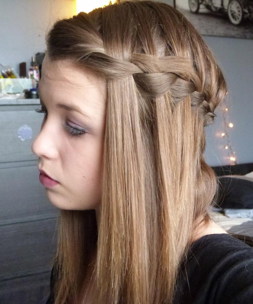 photo coupe de cheveux natte