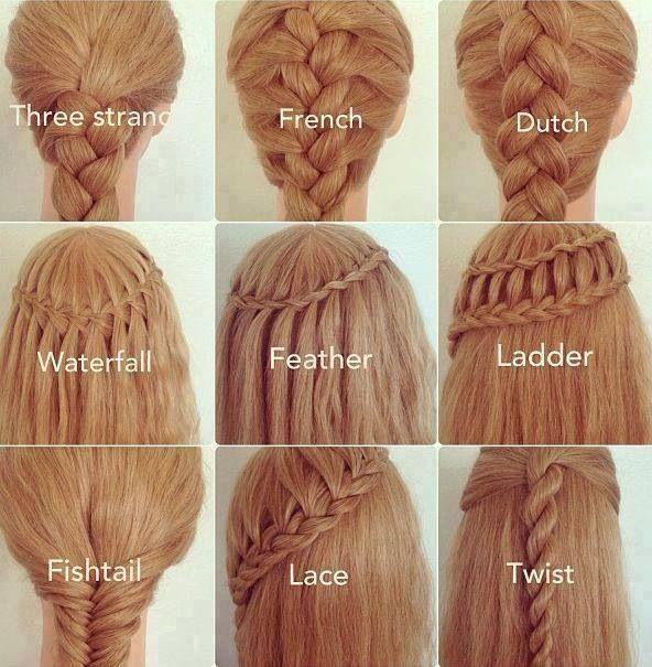 idée coupe de cheveux natte