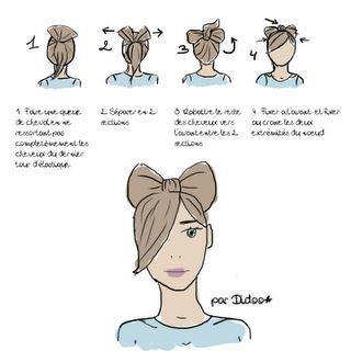 astuce coupe de cheveux noeud papillon