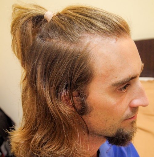Coupe de cheveux samourai