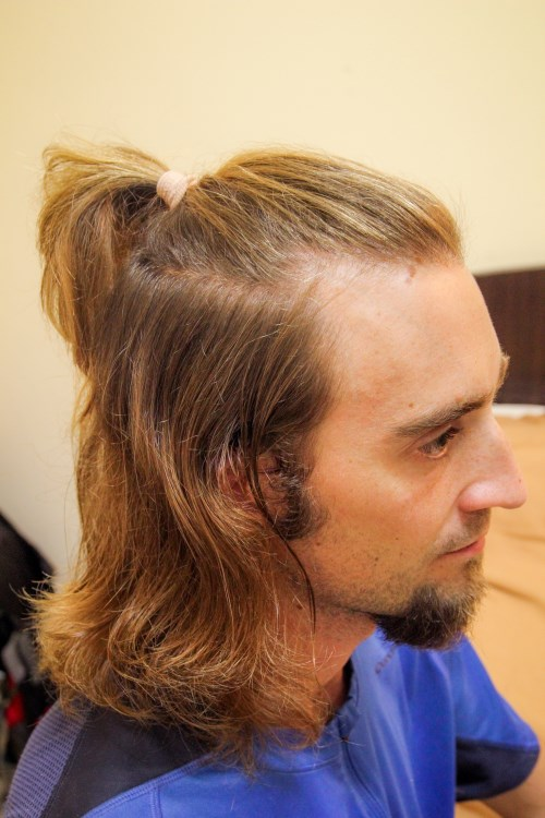 beau coupe de cheveux samourai