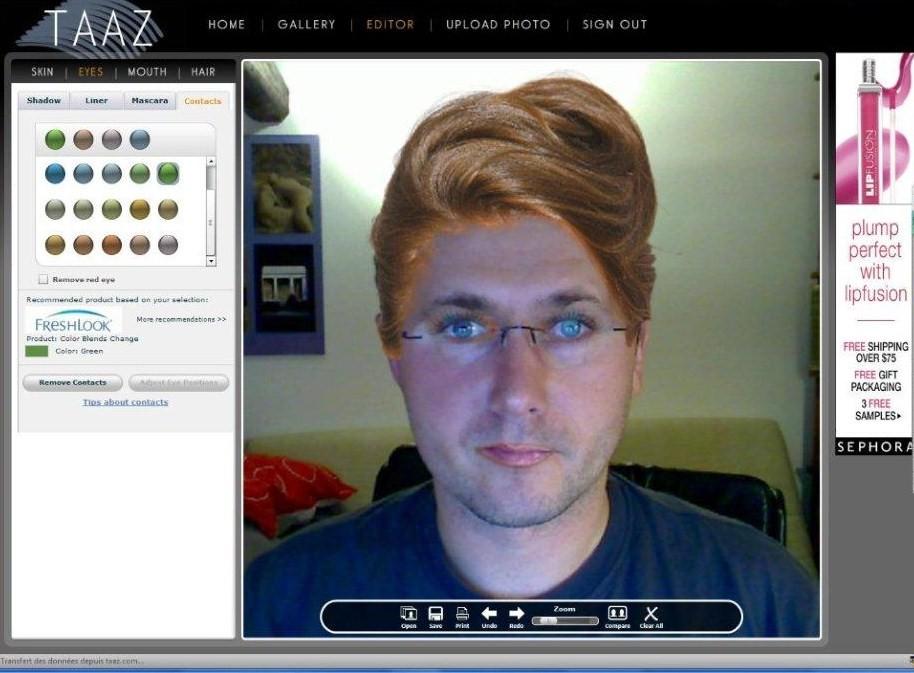 modèle coupe de cheveux simulateur