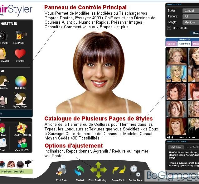 conseil coupe de cheveux simulateur