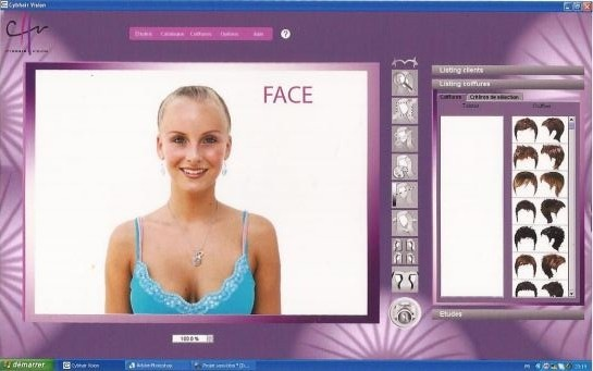 Coupe de cheveux simulateur