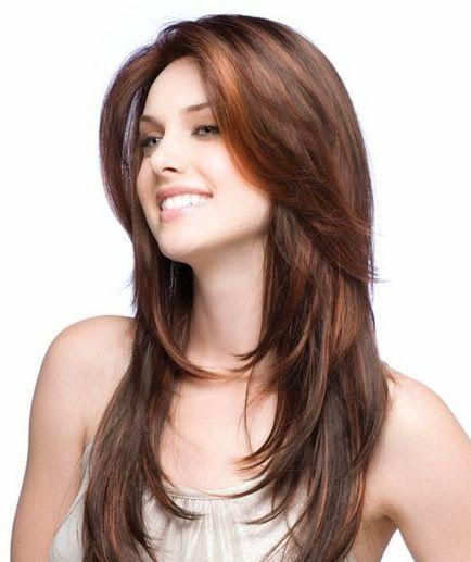 beau coupe de cheveux long dégradé