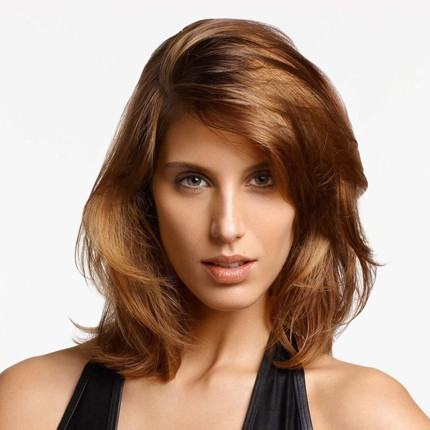photo coupe de cheveux pour visage long