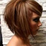 illustration coupe de cheveux femme visage rond