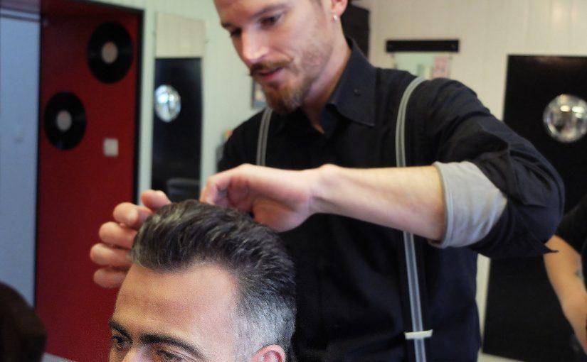 illustration coupe de cheveux old school homme