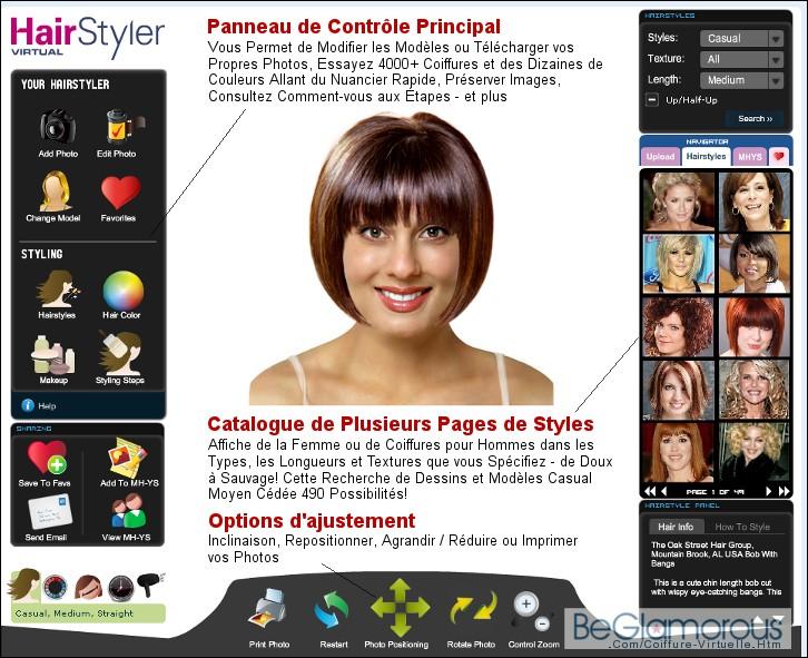 photo coupe de cheveux virtuelle