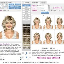 modèle coupe de cheveux virtuelle