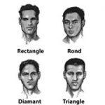 illustration coupe de cheveux visage ovale homme